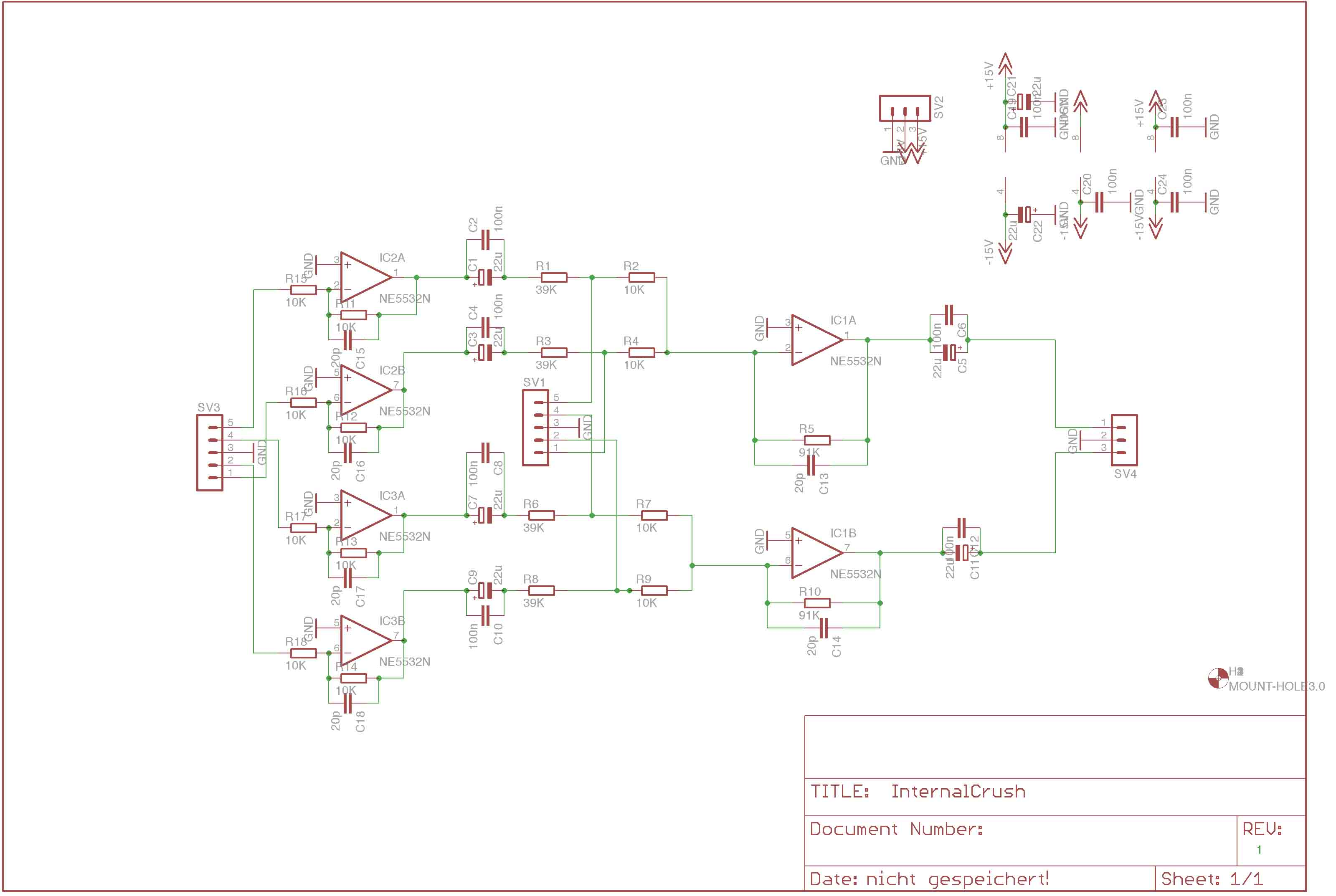 Basic Circuit Questions Opamp Audio Mixer Diagram With Ne5532 Basically Two Pair Of Line Receivers Same As Previously Shown And Its Outputs Going To A Dual Gang 10k Pot Conn 5 In The Schematic Done